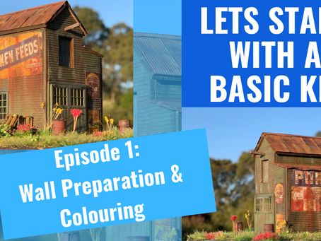 How to make a HO Scale Craftsman Kit. Episode 1.