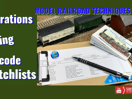Model Railroad Operations-Barcode Switchlists-Episode 1
