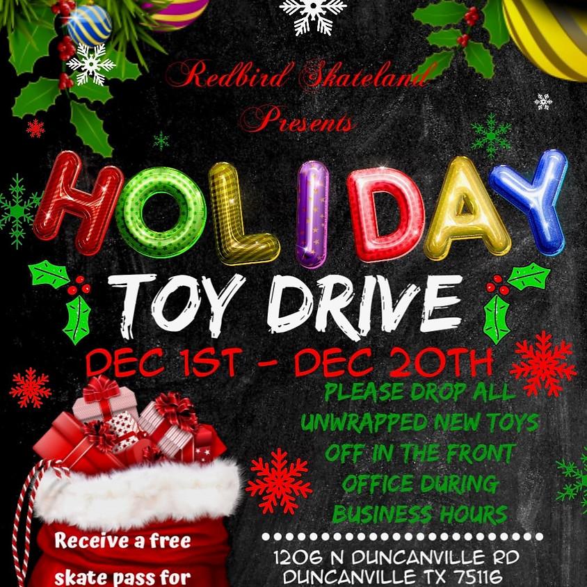 Redbird Skateland Holiday Toy Drive