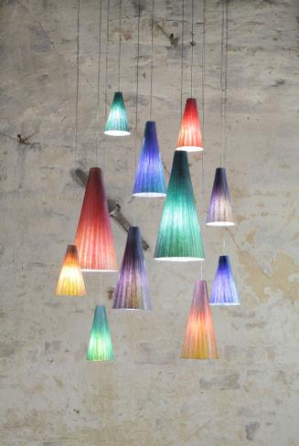 Piccadilly Pendelleuchte, Leuchten aus Japanpapier, handgefertigt