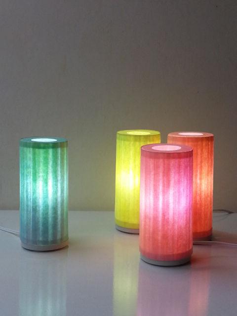 Kleines Licht, Tischleuchte aus Japanpapier, handgefertigt