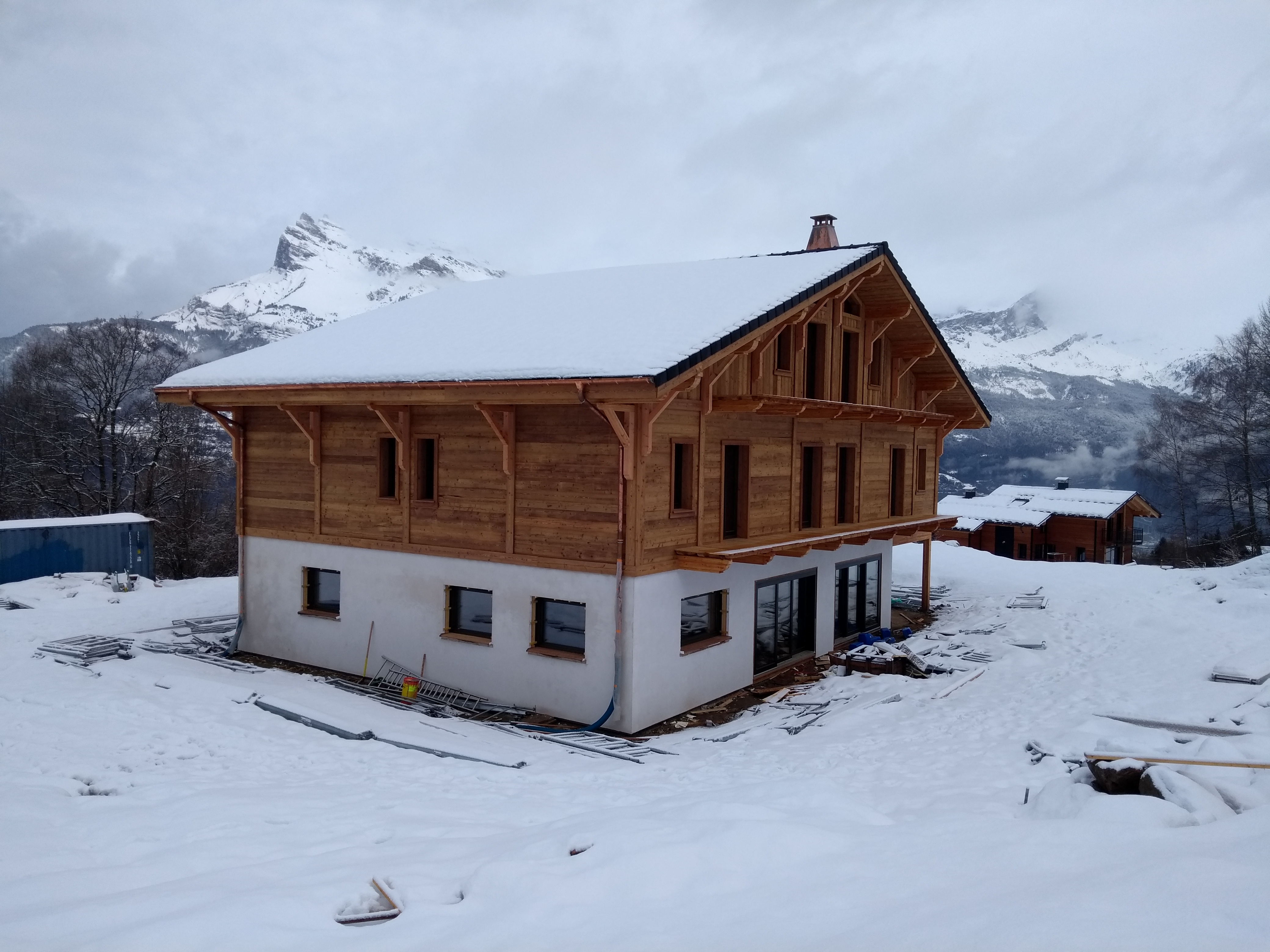 luxury chalet build French Alps