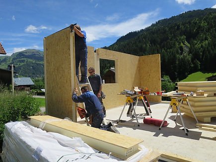 Building with SIPs in the Alps