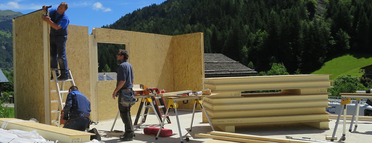 Ski chalet build, French Alps