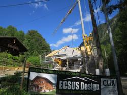 Alps chalet construction