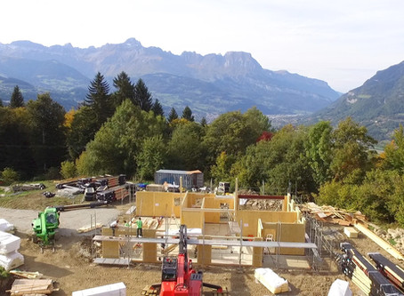 Luxury Ski Chalet Build, Saint Gervais: Aerial Footage, Day 2