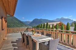Chalet terrace view