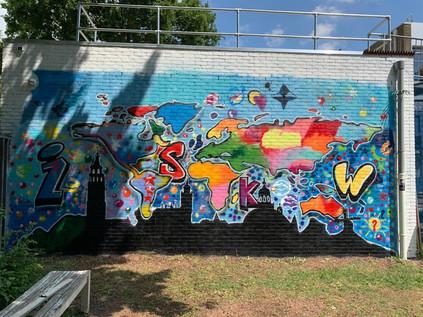 Workshop + muurschildering, ISKW Middelburg