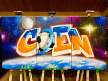 Space thema, Coen. Op canvas_