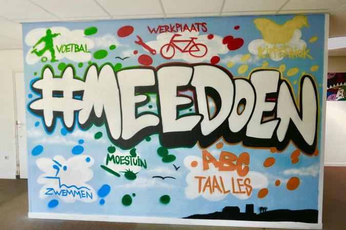 Muurschildering AZC Middelburg