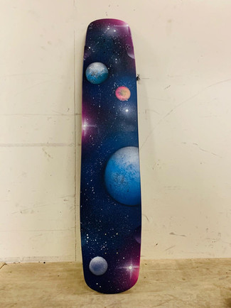 Space thema, skateboard deck