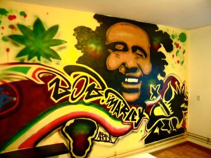 Slaapkamer Bob Marley