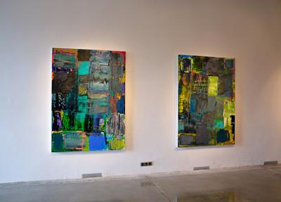 Ausstellungsansicht ZWISCHEN, HIMMEL UND ERDE, Bueffelfish Gallery, 2018