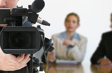 Video shoot in progress for documentary or testimonial