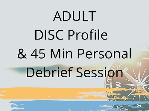 DISC Profile & 45 Minute Personal Debrief Session