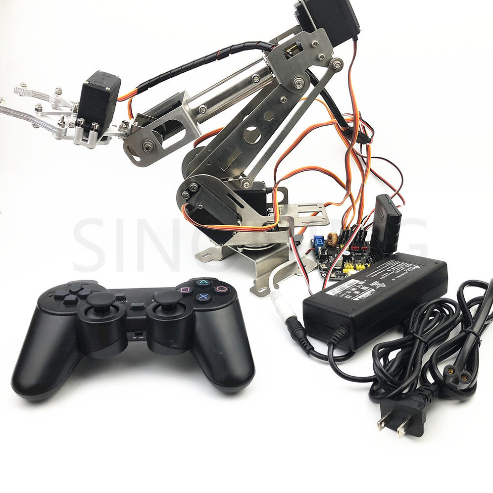 6dof Remote Control Robotic Arm arduino with claw