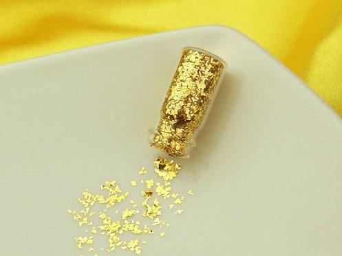 Essbares Gold - Blattgold - grobe Flocken