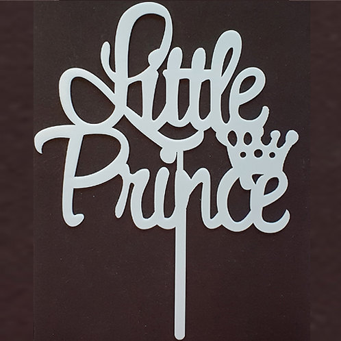 Cake Topper - Little Prince Baby Shower Taufe Acryl