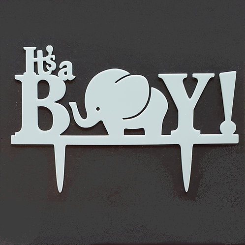 Cake Topper - Its a Boy Baby Shower Taufe Acryl