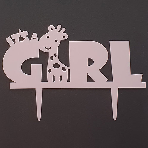 Cake Topper - Its a Girl Baby Shower Taufe Acryl