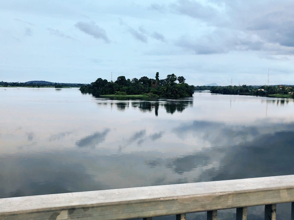 Researching novels: Southward view of Volta River from Adome Bridge (Photo: Kwei Quartey)