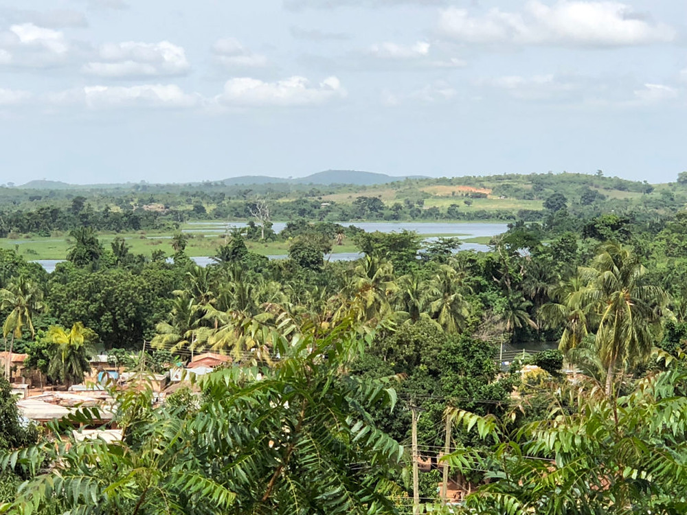 Researching your novel: Hilltop glimpse of the Volta River (Photo: Kwei Quartey)