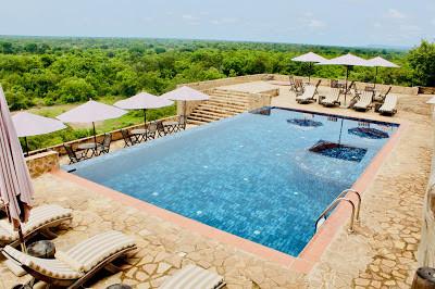 My Top Ten Ghana Scenes: Infinity pool at Zaina Lodge, Northern Region (Photo: Kwei Quartey)