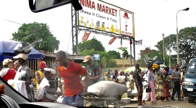 Researching your novel: Tough, bustling neighborhood of Nima, Accra (Photo: Kwei Quartey)
