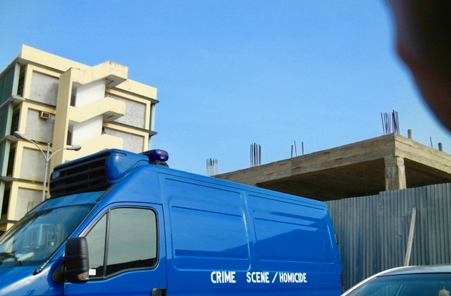 """Researching your novel: """"Unauthorized"""" photo of the CID crime scene van"""