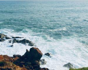 My Top Ten Ghana Scenes: Dizzying cliffs at Cape Three Points (Photo: Kwei Quartey)
