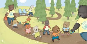 © Kimberly Gee  Illustration from Sad, Sad Bear! Beach Lane Books, S/S