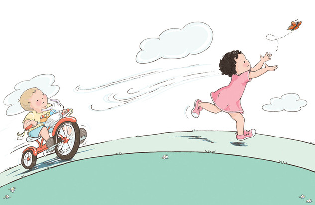 © Kimberly Gee   Illustration from Today with Meg and Ted, Golden Books, RH