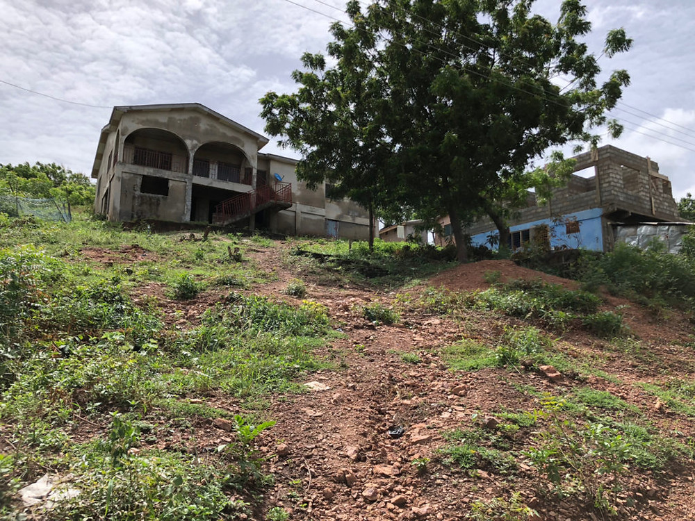 Researching your novel: Hillside home construction at Atimpoku (Photo: Kwei Quartey)