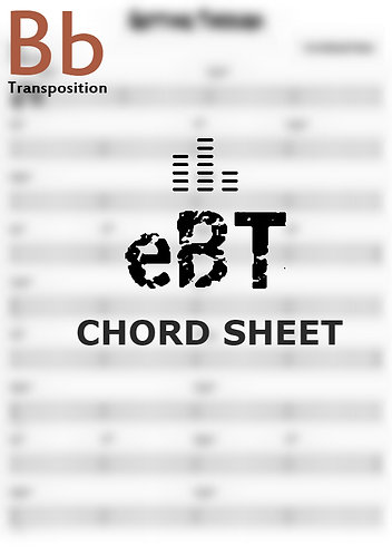 Over Yonder | C - Chord Sheet *Bb*