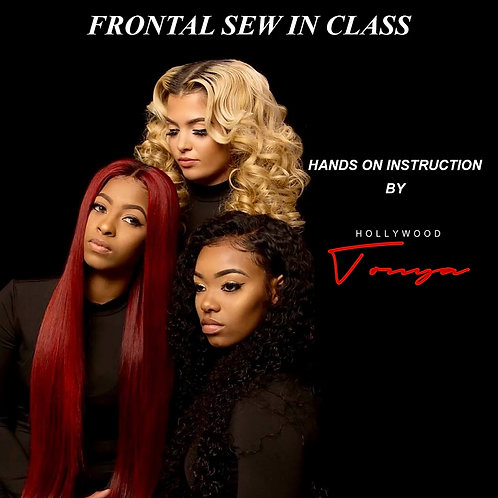 One-on-One Frontal Sew-In Class (Hands On)