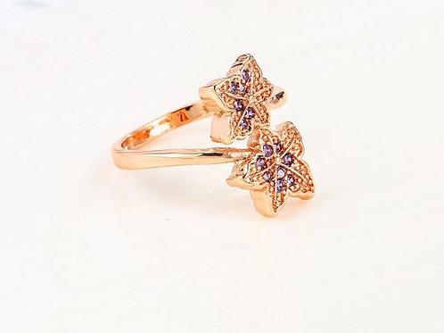 Purple Maple Leaf Ring