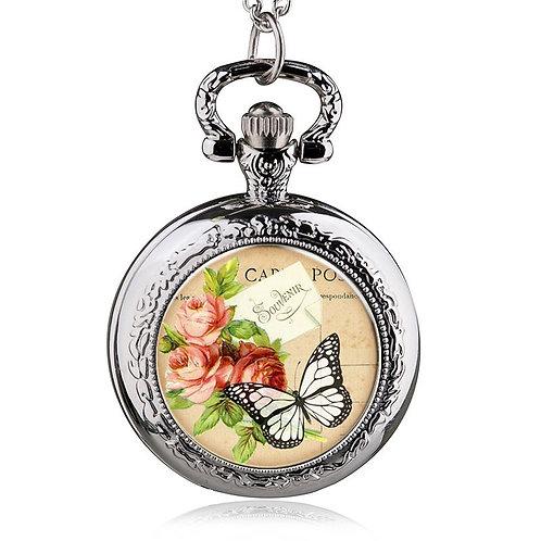 Souvenir Butterfly Small Pocket Watch