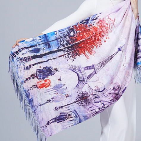 Eiffel Tower Painting Scarf