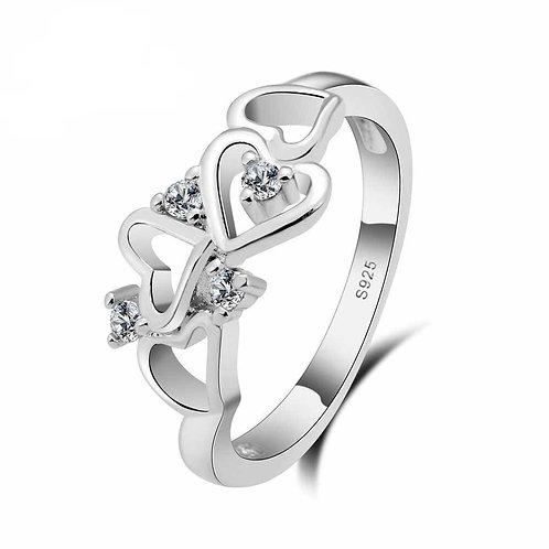 Tumbling Hearts Ring