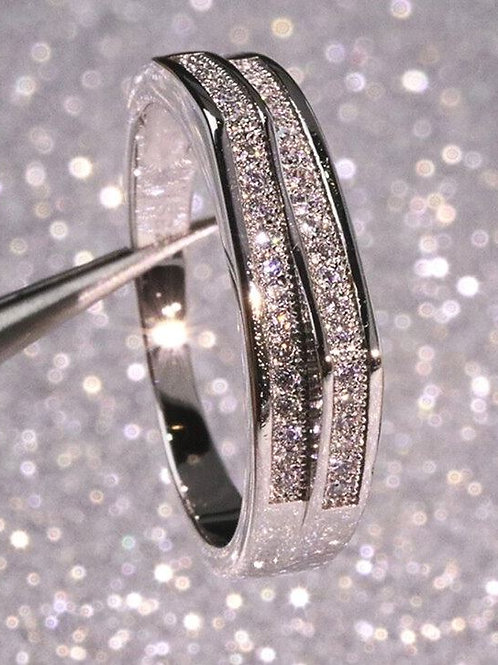 Angle Chanel Set Ring