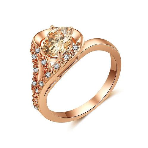Rose Gold Trumpet Ring