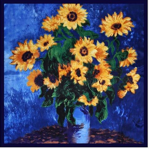Satin Large Square - Sunflowers