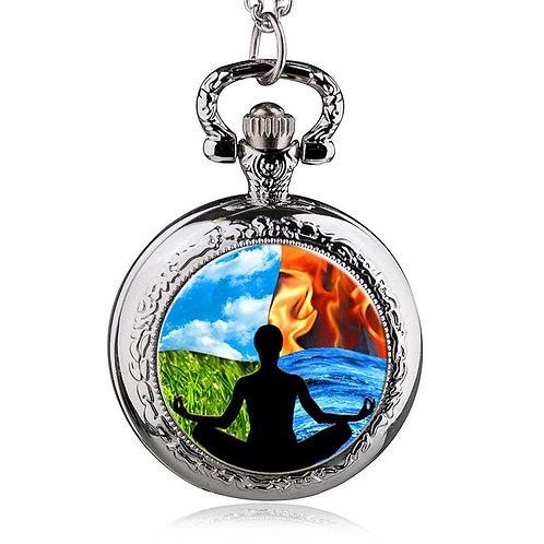 Four Elements Meditation Small Pocket Watch