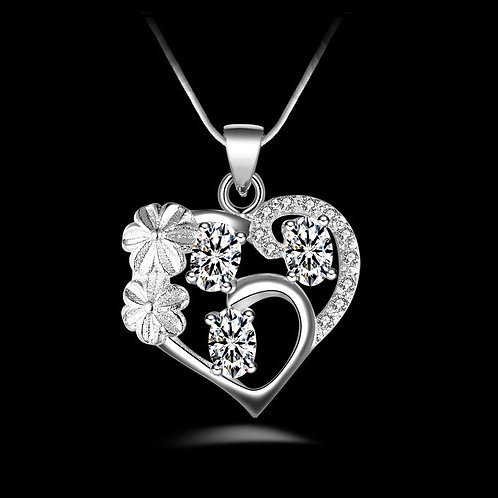 All Things Pretty Heart Necklace
