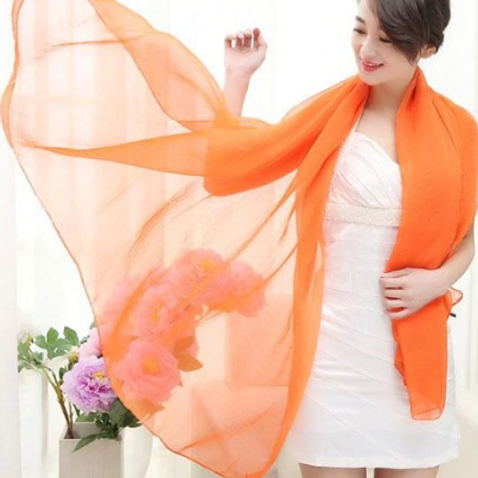 Bold Orange Scarf Vest