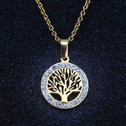 Gold Tree of Life Stainless Steel