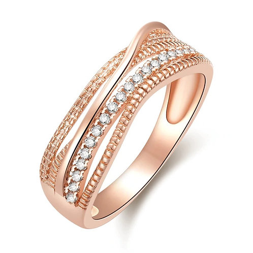 Crossover Rose Gold Ring