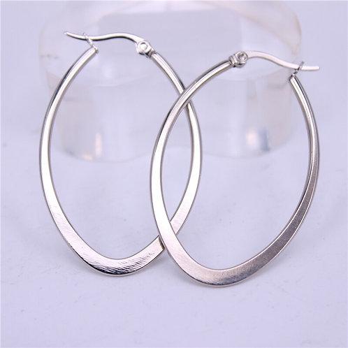 Flat Bottom Stainless Steel Earrings