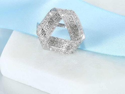 Triangle Greek Key Ring