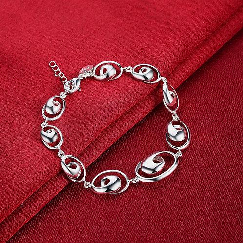 Ocean Wave Spiral Bracelet